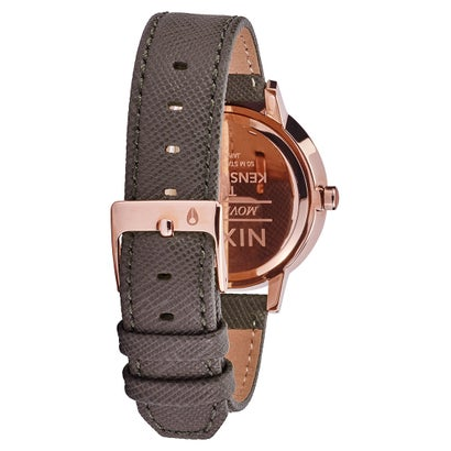 Ladies Grey Kesington Leather Leather Analogue Nixon Watch A108-2214