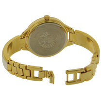 Ladies Gold Classic Stainless Steel Analogue Anne Klein Watch AK-2554BKGB