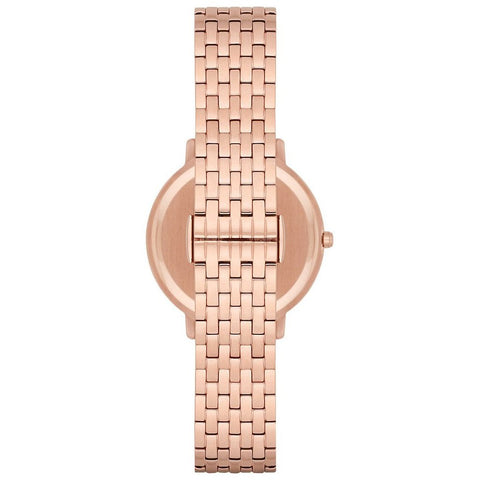 Ladies Rose Gold Stainless Steel Emporio Armani Watch AR11006