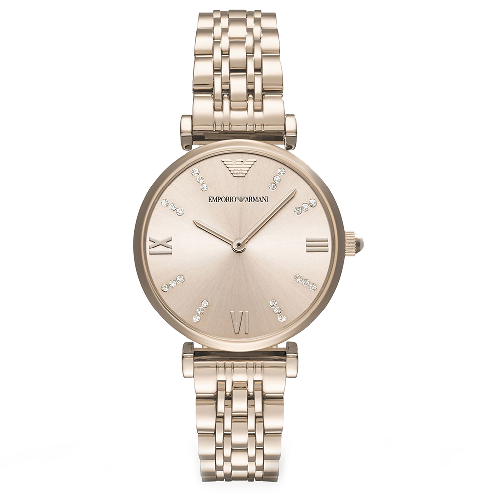 Ladies Rose Gold Stainless Steel Emporio Armani Watch AR11059