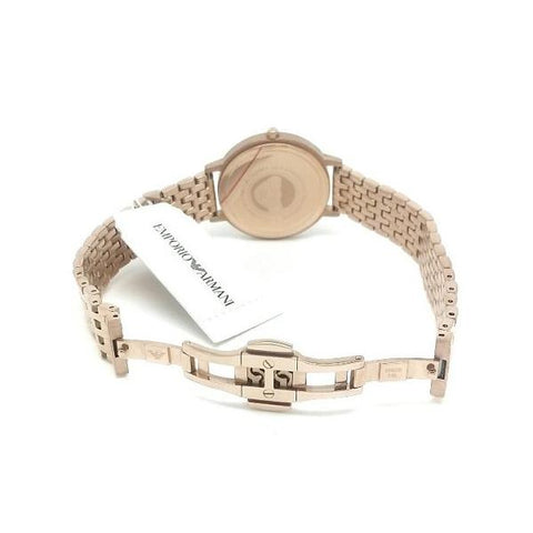 Ladies Rose Gold Stainless Steel Emporio Armani Watch AR11062