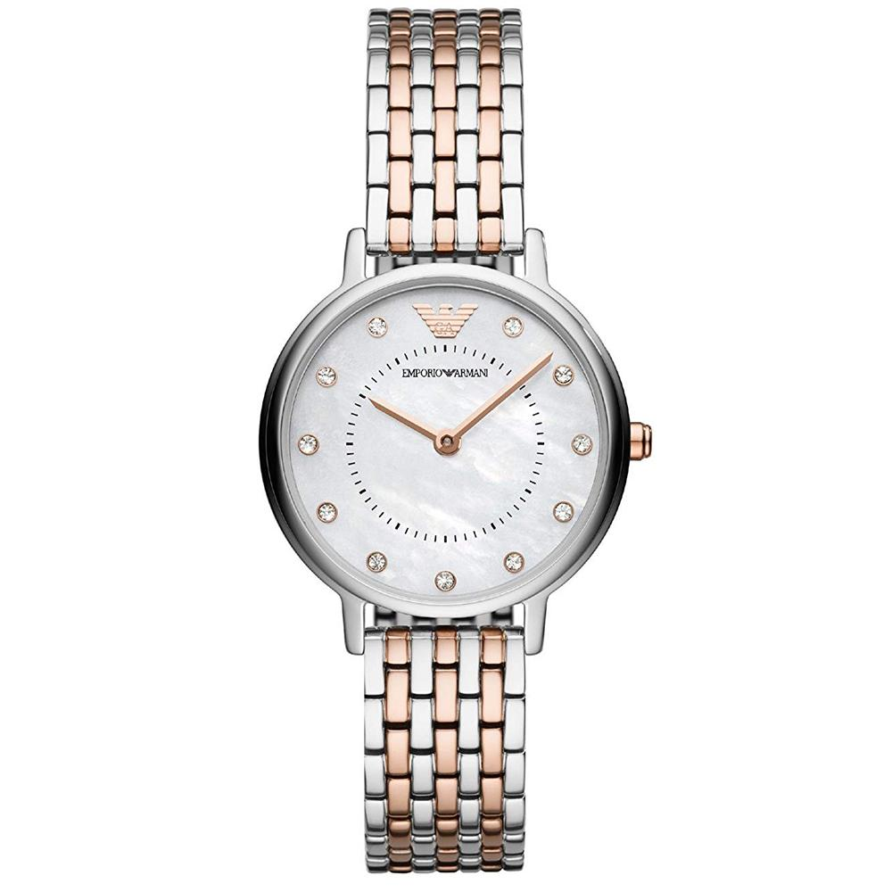 Ladies Rose Gold & Silver Stainless Steel Emporio Armani Watch AR11094