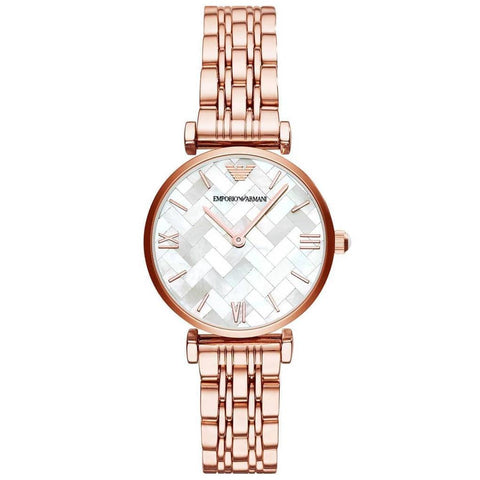 Ladies Rose Gold Stainless Steel Emporio Armani Watch AR11110