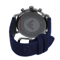Men's Blue Aviator Fabric Analogue Emporio Armani Watch AR11144