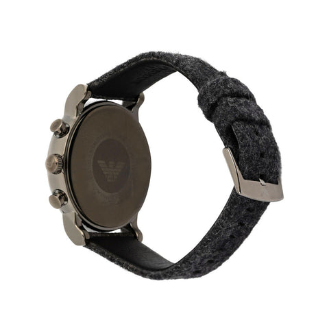Men's Black Luigi Fabric Analogue Emporio Armani Watch AR11154