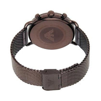 Men's Aviator Brown Mesh Strap Emporio Armani Watch AR11169