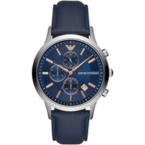 Men's Renato Blue Leather Chronograph Emporio Armani Watch AR11216