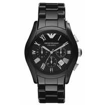 Men's Black Ceramic Chronograph Emporio Armani Watch AR1400