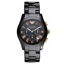 Men's Black Rose Gold Ceramic Chronograph Emporio Armani Watch AR1410