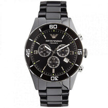 Men's Black Ceramic Chronograph Emporio Armani Watch AR1421