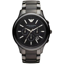 Men's Black Ceramic Chronograph Emporio Armani Watch AR1451