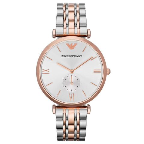 Ladies Rose Gold & Stainless Steel Emporio Armani Watch AR1677