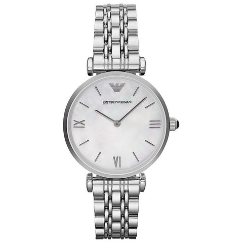 Ladies Silver Stainless Steel Designer Emporio Armani Watch AR1682
