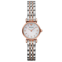 Ladies Rose Gold & Stainless Steel Emporio Armani Watch AR1689