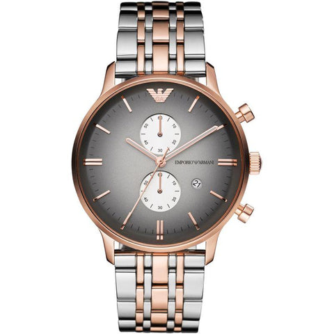 Men's Rose Gold Stainless Steel Multifunction Emporio Armani Watch AR1721