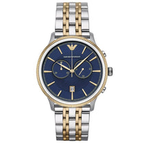 Men's Blue & Two Tone Stainless Steel Chronograph Emporio Armani Watch AR1847