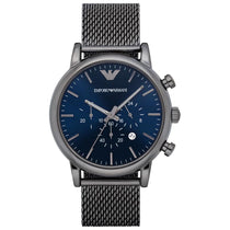 Men's Gunmetal Grey Mesh Chronograph Emporio Armani Watch AR1979