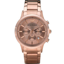 Men's Rose Gold Chronograph Emporio Armani Watch AR2452