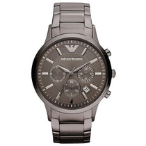 Men's Grey Stainless Steel Emporio Armani Watch AR2454
