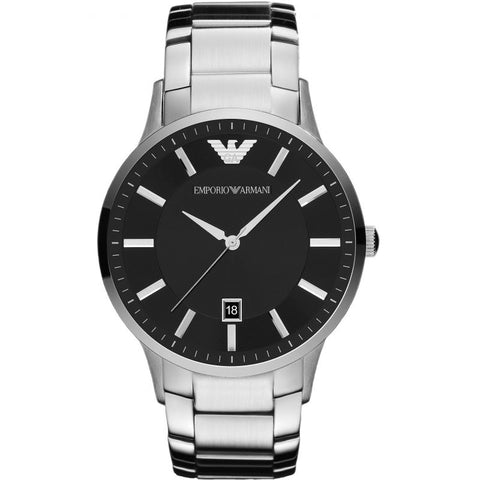 Men's Silver Stainless Steel Emporio Armani Watch AR2457