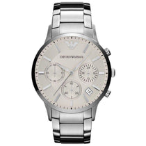 Men's Silver Stainless Steel Chronograph Emporio Armani Watch AR2458