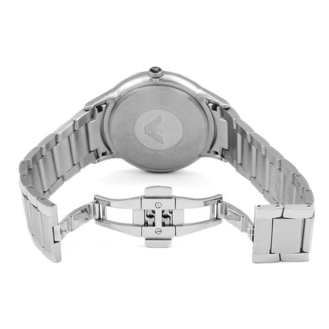 Men's Silver & Blue Stainless Steel Emporio Armani Watch AR2477