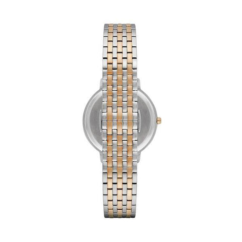 Ladies Two Tone Stainless Steel Bracelet Emporio Armani Watch AR2515