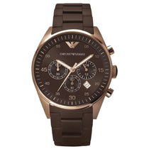 Men's Brown Silicone Chronograph Emporio Armani Watch AR5890