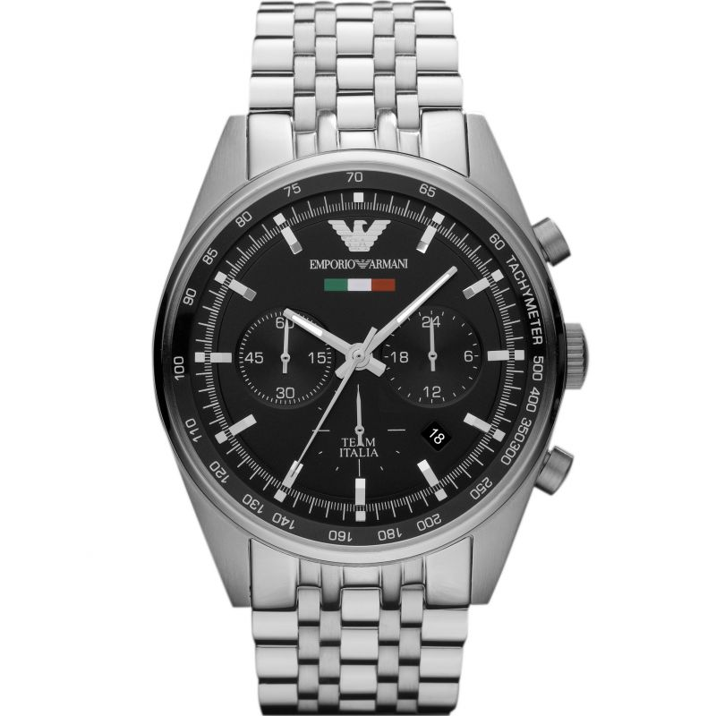Men's Black Dial Chronograph Emporio Armani Watch AR5983