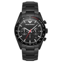 Men's Black Stainless Steel Chronograph Emporio Armani Watch AR6094