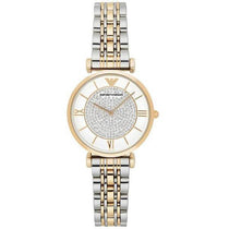 Ladies Gold & Silver Stainless Steel Emporio Armani Watch AR8031