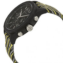 Men's Black Classic Fabric Chronograph Armani Exchange Watch AX1334
