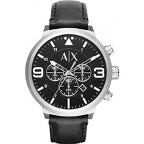 Men's Black ATLC Leather Chronograph Armani Exchange Watch AX1371