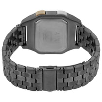 Men's Black Shell Stainless Steel Digital Armani Exchange Watch AX2951