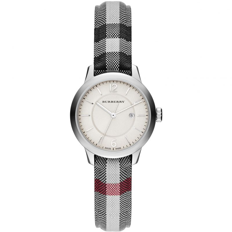 Ladies Classic Horseferry Check Fabric Strap Burberry Watch BU10103