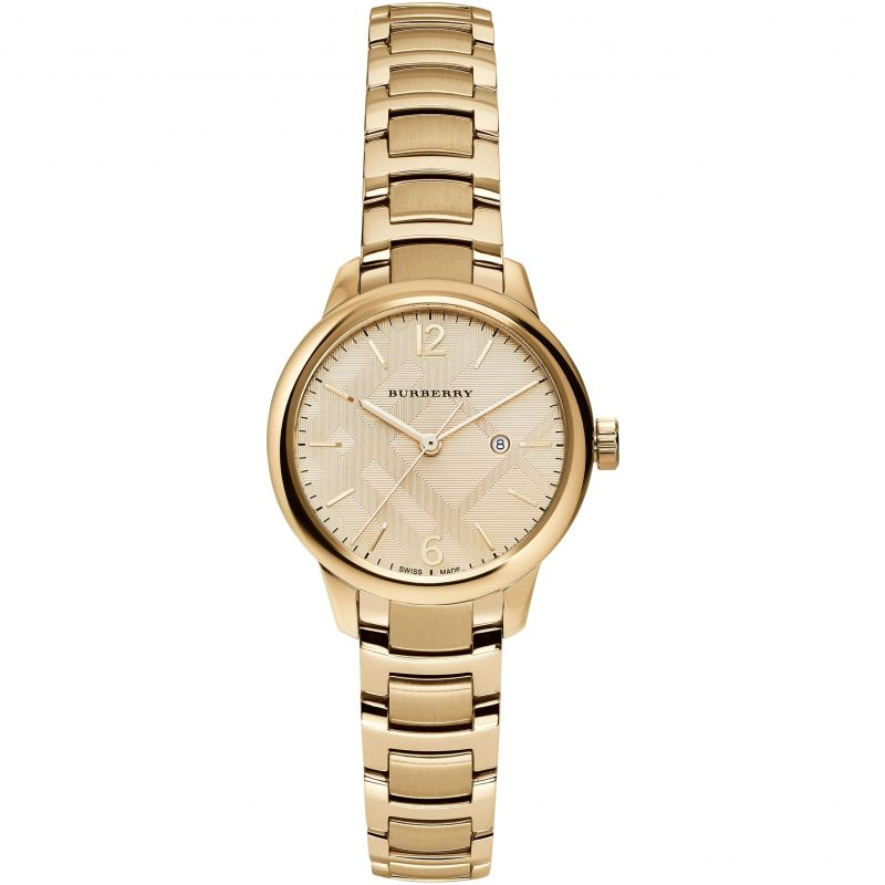Ladies Gold The Classic Stainless Steel Burberry Watch BU10109