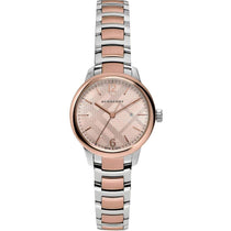 Ladies Classic Silver & Rose Gold Two-Tone Stainless Steel Burberry Watch BU10117