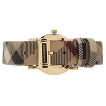 Ladies City Nova Check Gold Dial Check Strap Burberry Watch BU1398