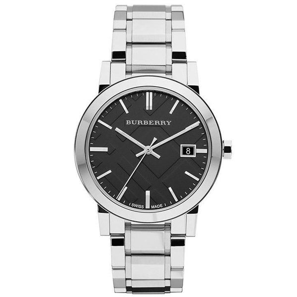 Ladies Black Face Stainless Steel Designer Burberry Watch BU9201