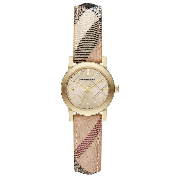 Ladies The Haymarket Check Fabric Strap Burberry Watch BU9219
