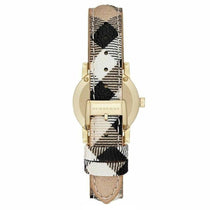 Ladies The City Diamond Haymarket Fabric Strap Burberry Watch BU9226