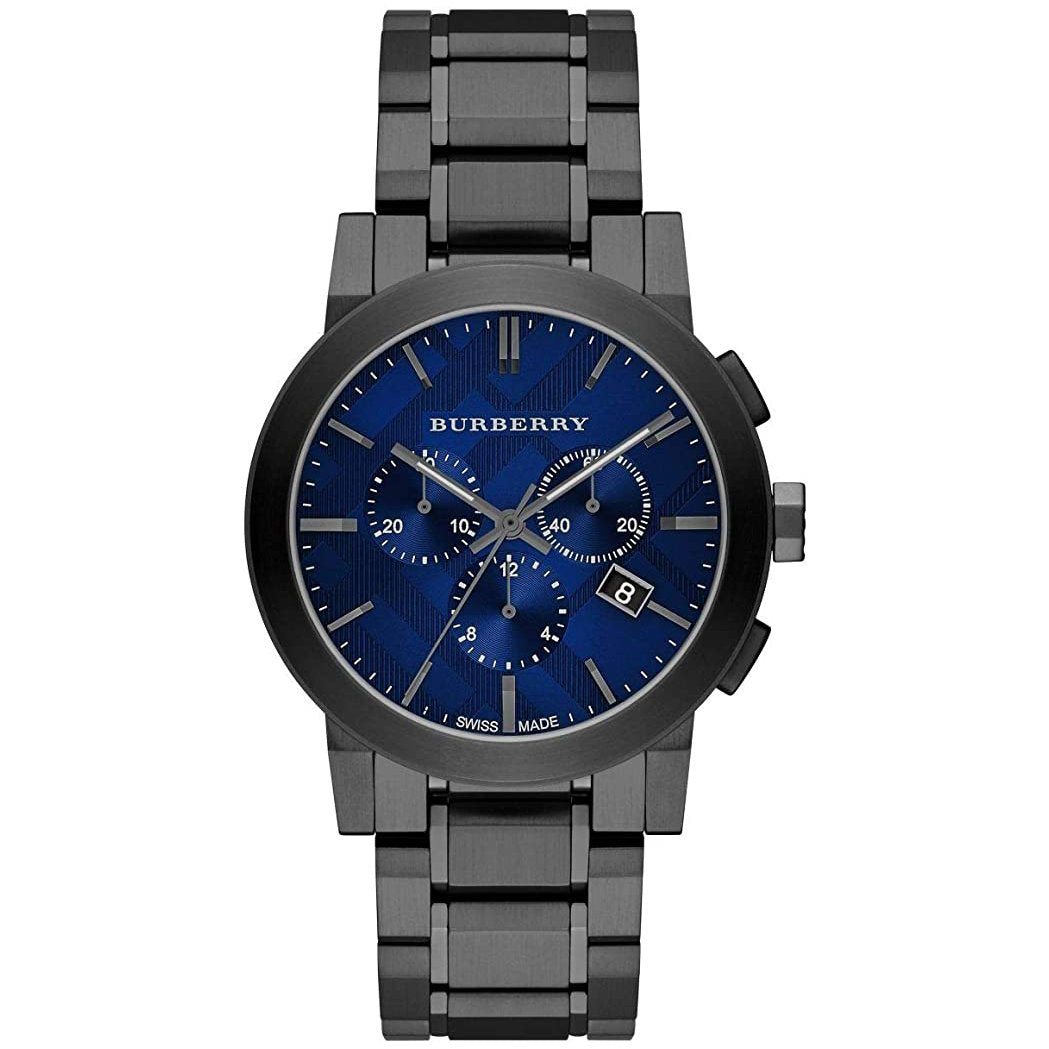 Men's Gunmetal Grey Ion Plated Chronograph Burberry Watch BU9365