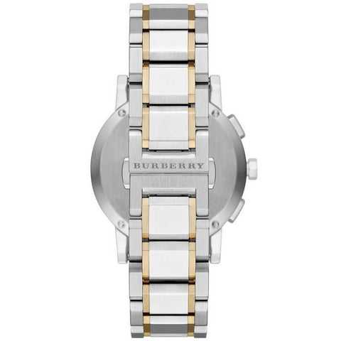 Men's The City Two Tone Stainless Steel Chronograph Burberry Watch BU9751