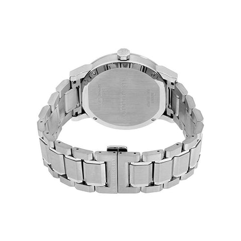 Men's Silver Stainless Steel Chronograph Burberry Watch BU9901