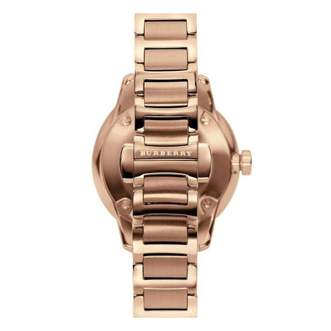 Ladies Rose Gold Swiss Stainless Steel Burberry Bracelet Watch BU10116