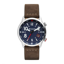 Brown Outbacker Leather Analogue Columbia Watch CSC01-001