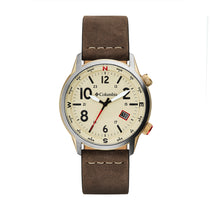 Brown Outbacker Leather Analogue Columbia Watch CSC01-002