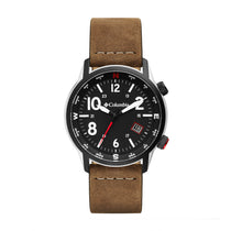 Brown Outbacker Leather Analogue Columbia Watch CSC01-003
