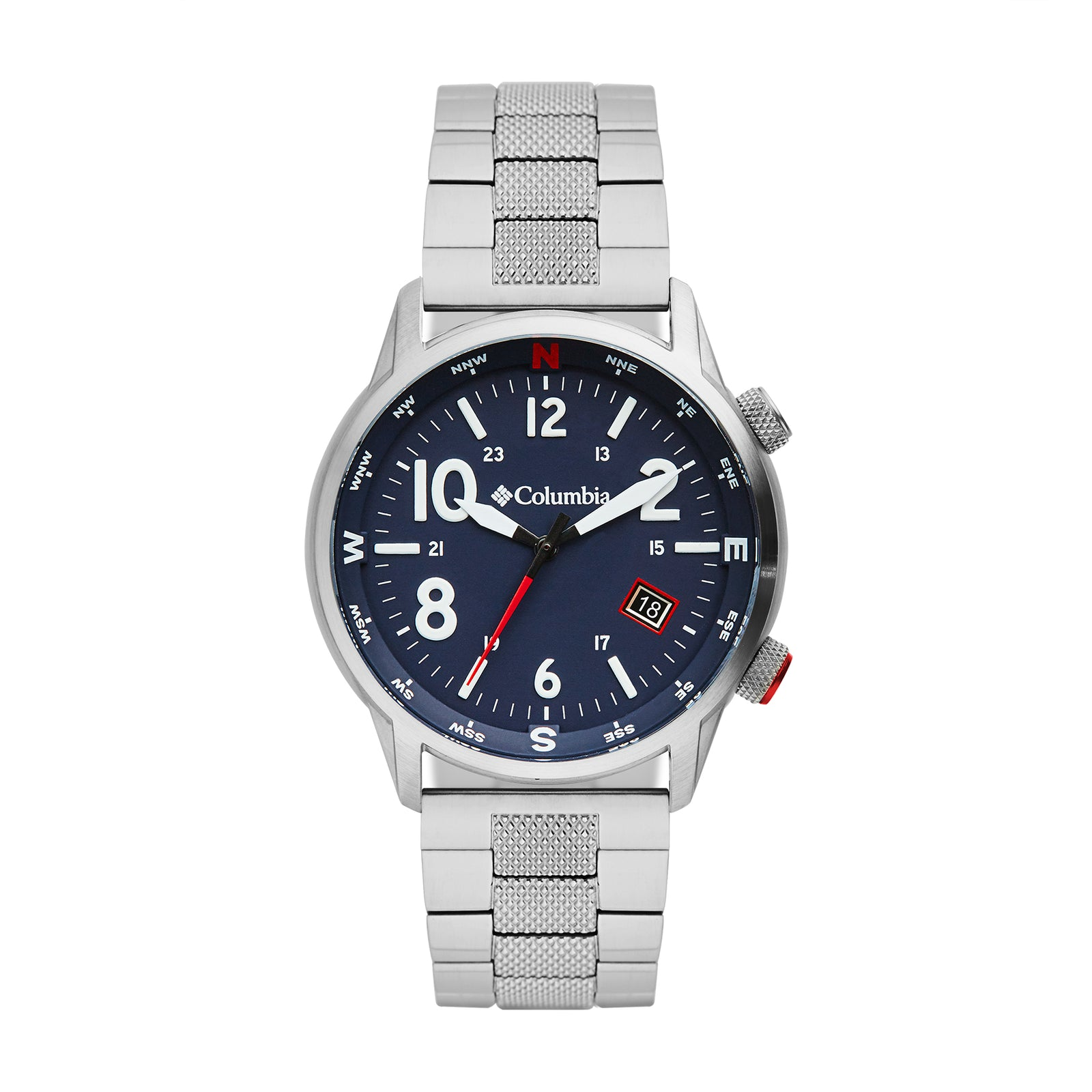 Navy Blue Outbacker Stainless Steel Analogue Columbia Watch CSC01-007