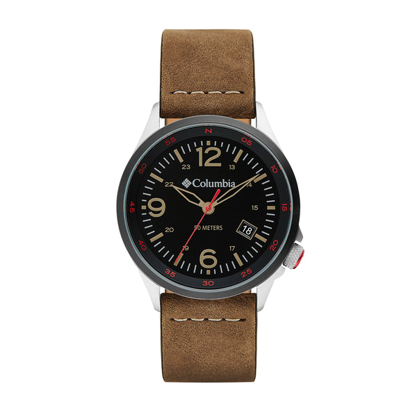 Brown Canyon Ridge Leather Analogue Columbia Watch CSC02-001